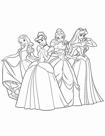 Coloring Disney Princesses Popular