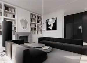 monochrome living room decor interior design ideas With interior decoration items for living room