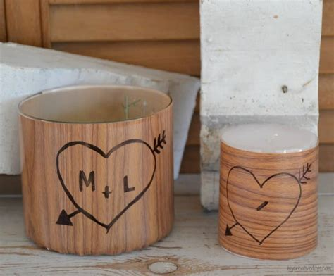 how to get sharpie off wood table diy faux wood carved candles for valentine 39 s day my
