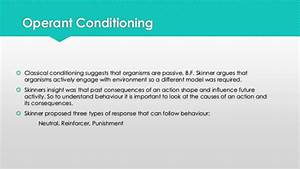 Classical conditioning & Operant conditioning