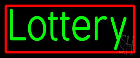 green lottery neon sign lotto neon signs   neon
