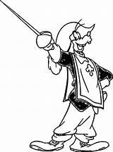 Coloring Musketeers Three Disney Goofy sketch template