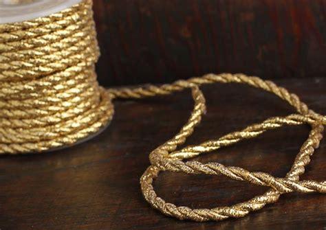 316 Petite Gold Metallic Cord Trim 10 Yards Ribbon
