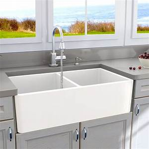 cape 33quot x 18quot double basin farmhouse kitchen sink With 2 basin farmhouse sink