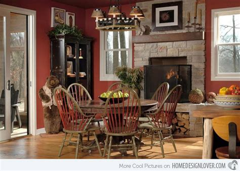 small kitchen interiors 15 rustic dining room designs decoration for house