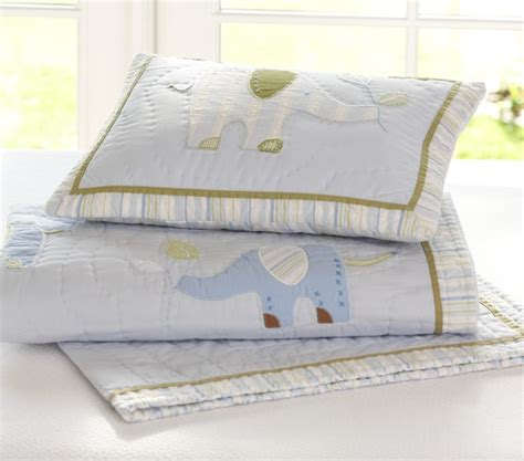 eli s elephant nursery bedding set pottery barn kids