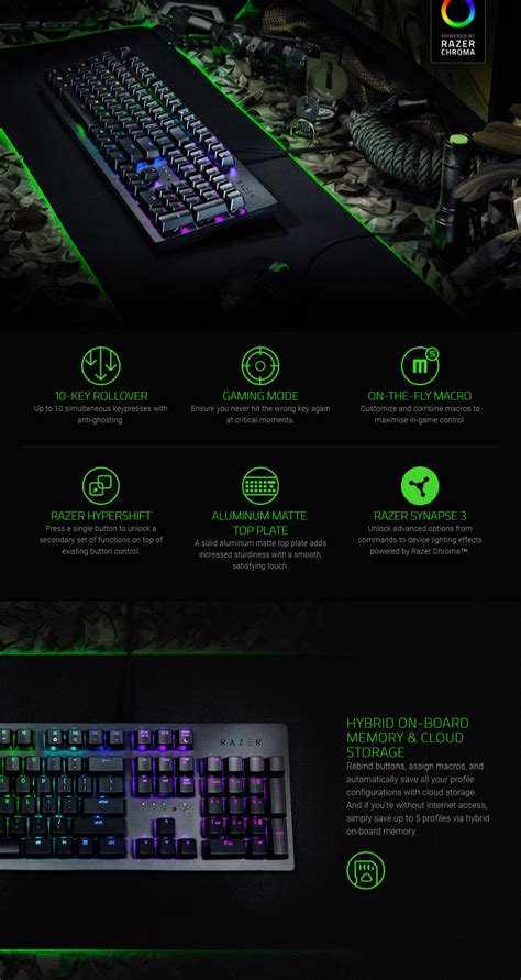 razer huntsman chroma opto mechanical gaming keyboard rz03 02520100 pc gear