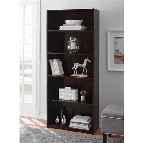 How To Build A 5 Shelf Bookcase by Mainstays 5 Shelf Standard Wood Bookcase Walmart