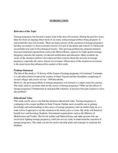 Learned its lesson and cut teen. Teenage Pregnancy Research Proposal Paper - Creative Titles For Teenage Pregnancy Essays