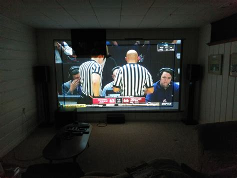 """First Projector and DIY 1xx"""" AT Screen AVS Forum Home"""
