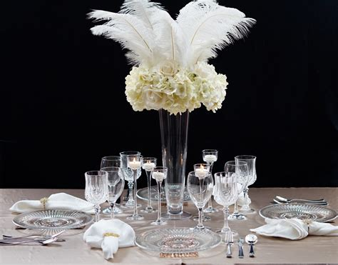 Roaring 20s Great Gatsby Inspired Feather Wedding