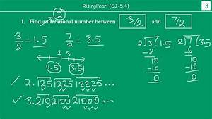 Irrational Number S  Between Two Rational Numbers