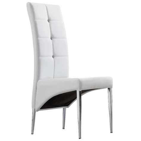chaises capitonnées lot de 2 chaises capitonnées simili cuir blanc achat