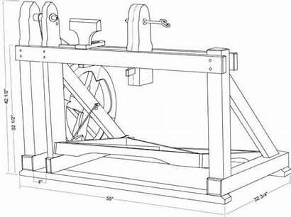 Lathe Treadle Plan Plans Bearing Screws Wooden