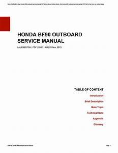 Honda Bf90 Service Manual
