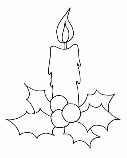 Candle Coloring Draw Drawings Easy Noel Sketch