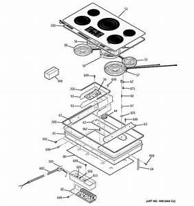 Ge Pp975bm3bb Electric Cooktop Parts