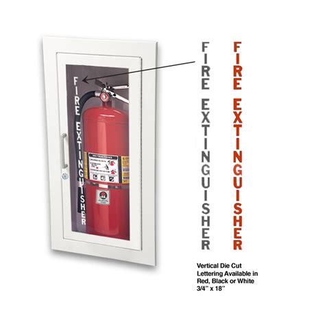 jl die cut lettering fire extinguisher jli ldcv