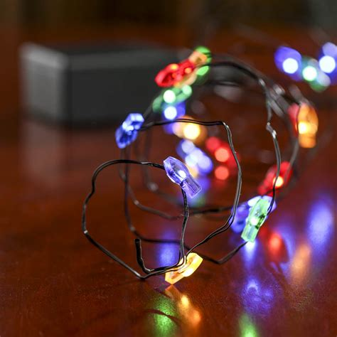 battery operated christmas string lights battery operated christmas bulb black wire led string