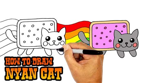 draw nyan cat art lesson  kids drawing