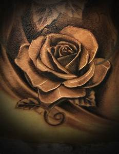 realistic rose tattoo black and grey | www ...
