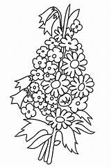 Coloring Flower Pages Bouquet Flowers Roses Forget Drawing Printable Rose Clipartqueen Bouquets Getcolorings Getdrawings Bell Buttercup sketch template