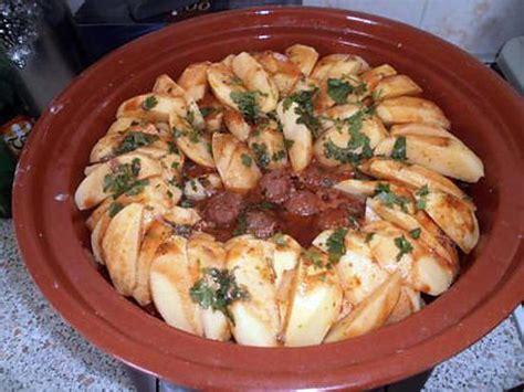 recette de tajine de pomme de terre boulette et merguez