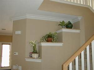 crown molding install on concrete wall for rack to place With beautify your house with some crown moulding ideas