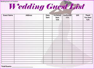 wedding checklist template With wedding invitation list maker