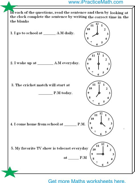 clock worksheet ipracticemaths worksheets