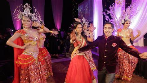 indian wedding reception entrance dance london thumakda