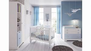 Chambre bébé garçon complète Gioco blanc et bleu GLICERIO SO NUIT