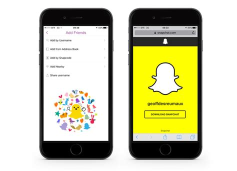 snapchat iphone get more snapchat friends with your personalised url to