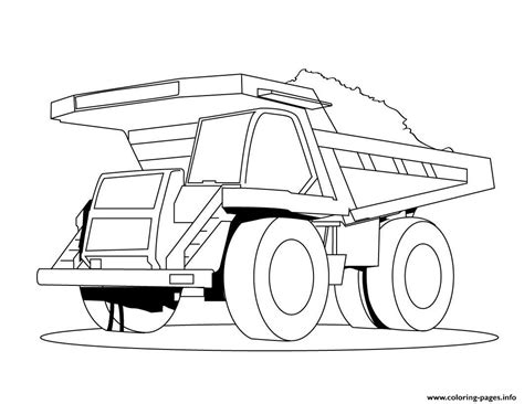 dessin camion benne  coloring pages printable