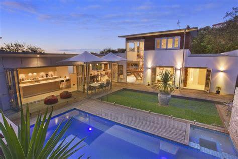 shaped house plans  home  unique floor plan pool