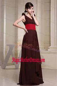 v neck brown maxi mother of the bride dress for wedding With maxi dress for wedding reception