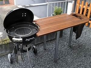 Tisch f r weber grill one touch 57cm gro e arbeitsfl che for Weber tisch