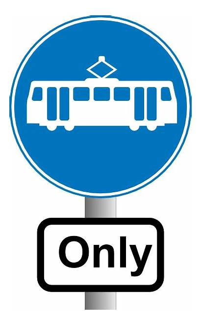 Bus Metro Clipart Road Electric Signs Sign
