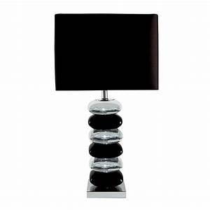 Tischleuchten Mit Stoffschirm : tischleuchte in steinoptik mit stoffschirm in schwarz wohnlicht ~ Frokenaadalensverden.com Haus und Dekorationen