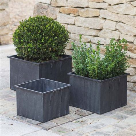 square outdoor planters square planter by all things brighton beautiful notonthehighstreet com