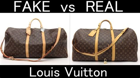 fake  real louis vuitton monogram keepall bandouliere