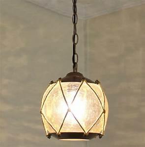 Antique ice cracked glass pendant lighting contemporary
