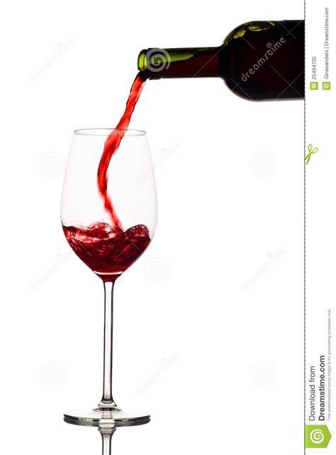 Business Cards That Stand Out by Red Wine Is Poured Into A Wine Glass Royalty Free Stock