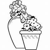 Flower Pots Coloring Gardening Printable Vase Container Pages Flowers Crafts Drawings Clay Garden Freeprintablecoloringpages Vases Ceramic Thrill Colored sketch template