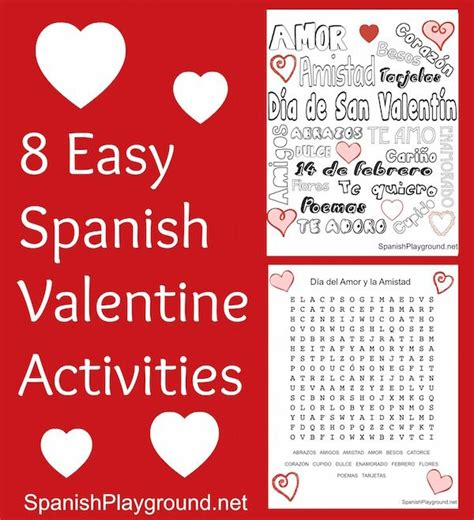 8 easy spanish valentine activities spanish for kids