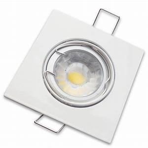 Spot Carré Led : kit spot carr 5w dimmable ~ Edinachiropracticcenter.com Idées de Décoration