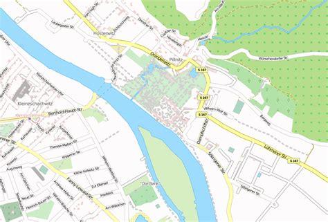 schloss pillnitz stadtplan mit satellitenaufnahme und