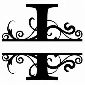 monogram letter die cut vinyl decal pv1320 tipo typo With silhouette letter cutter
