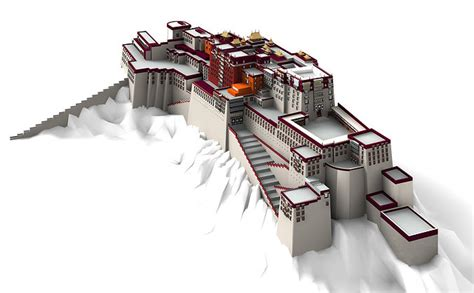 potala palace lahsa  model cgtrader