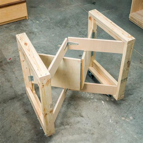 saturday morning workshop folding mobile workbench  family handyman